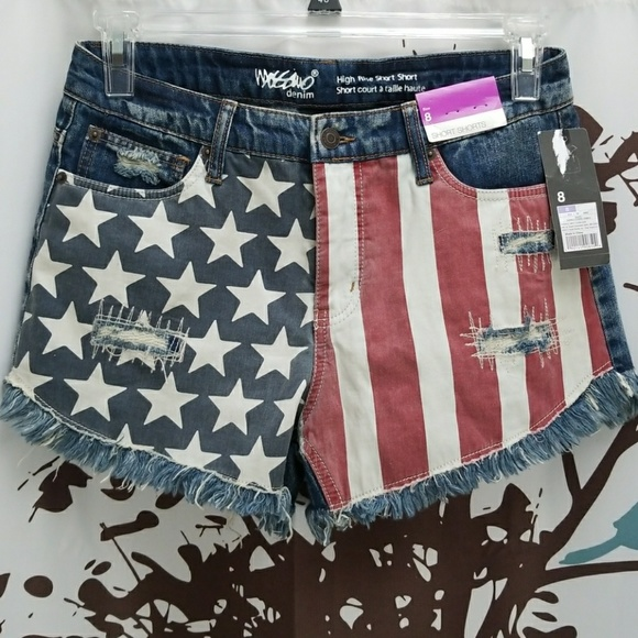 14d133072d6f NWT Mossimo Stars Stripes High Rise Short Shorts